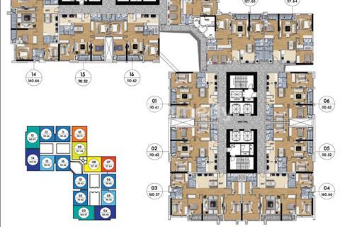 Bán chung cư Goldmark City, căn 1714 Ruby 4, 160,66 m2và giá 23 triệu/ m2.