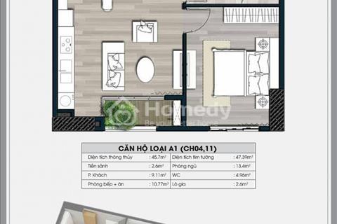 Cho thuê căn hộ 2205, diện tích 50 m2, chung cư Ecolife Capitol, Nam Từ Liêm, 6,5 triệu/ tháng
