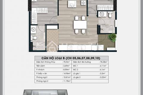 Cần bán căn 1010, chung cư Ecolife Capitol, diện tích 76 m2, giá 27 triệu/ m2