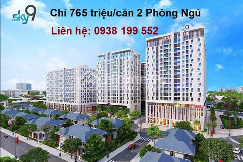 Bán căn hộ Sky 9 - Sun tower ngay biệt thự Merita Khang Điền- Diện tích 50m2. Giá 900 triệu bao phí