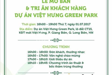Tặng ngay phần quà hấp dẫn trị giá hơn 100 triệu khi mua chung cư CT15 Việt Hưng