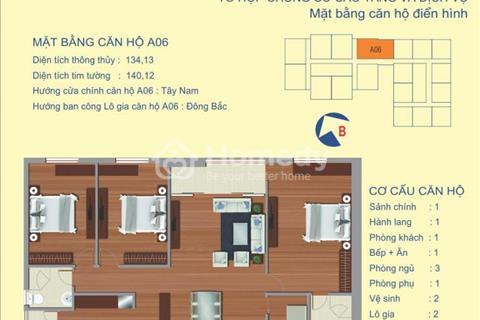 Bán căn 134 m2 chung cư Udic Riverside 122 Vĩnh Tuy 3 phòng ngủ, view sông