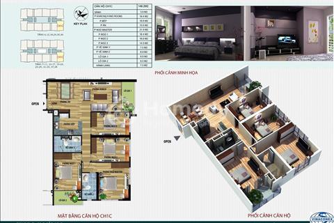 Bán nhanh căn hộ CH1C diện tích 148 m2 tòa CT4 Vimeco Nguyễn Chánh