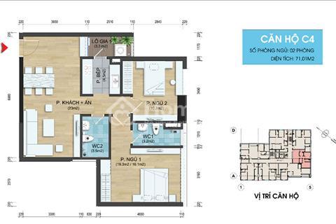 282 Nguyễn Huy Tưởng trung tâm Thanh Xuân chỉ 2,1 tỷ nhận ngay căn hộ 71 m2 (2 phòng ngủ)