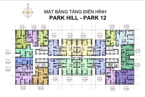 Chính chủ cắt lỗ gấp căn hộ số 1812B Park 12 diện tích 93,5 m2 giá 3,8 tỷ, bao tên