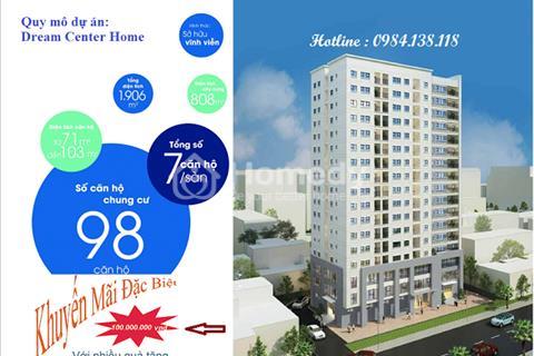 Chỉ với 2,5 tỷ /căn, sở hữu căn hộ 3 phòng ngủ , trung tâm quận Thanh Xuân, dự án Dream Center Home