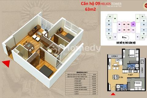 Chính chủ bán căn hộ chung cư Helios - 75 Tam Trinh, tầng 1509. Diện tích 63 m2, giá 21,5 triệu/m2