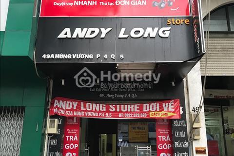 Cho thuê nhà mặt tiền đường Hùng Vương, Phường 4, Quận 5, Hồ Chí Minh
