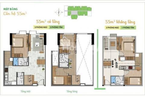 Bán căn hộ có lửng, thiết kế như nhà phố, độ cao trần 4,8 m. Diện tích 92 m2, 3 phòng ngủ, 3 WC