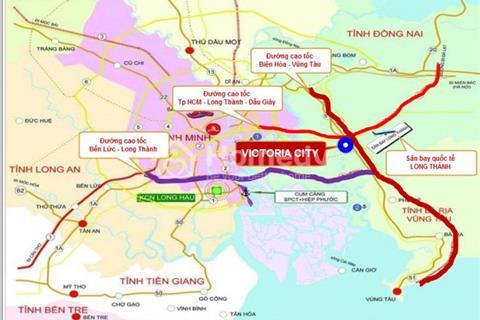 Bán gấp 1 lô gần góc lốc LT2 quốc lộ 51 - dự án Victoria City sân bay quốc tế Long Thành