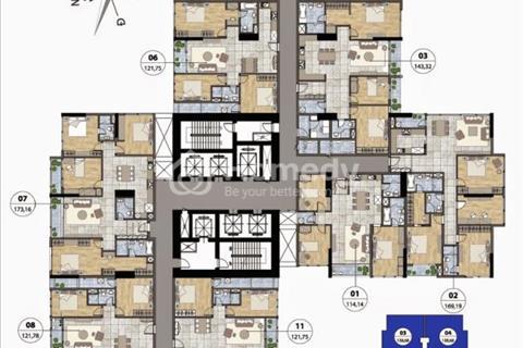 Bán căn góc 1610, Ruby1, chung cư Goldmark City, 138,61 m2, cắt lỗ giá 21 triệu/m2