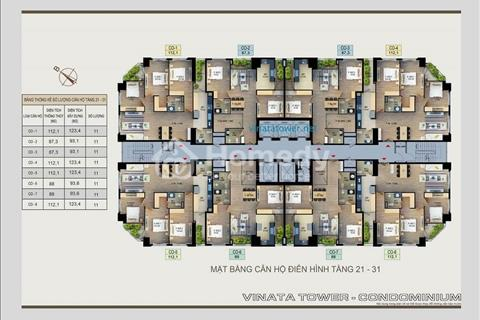 Gia đình tôi bán gấp căn hộ số 0218 dự án Vinata Tower. Giá 31,2 triệu/ m2