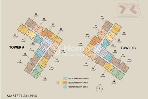 Mở bán đợt đầu căn hộ Masteri An Phú, mặt tiền Xa Lộ Hà Nội, lãi suất 0%