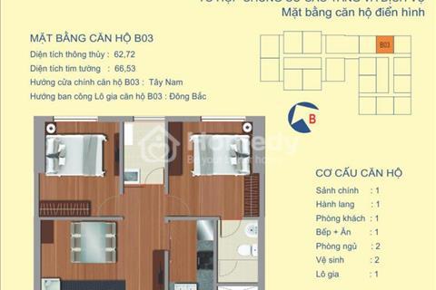 Bán chung cư 122 Vĩnh Tuy căn 62 m tầng 15 view sông chính chủ