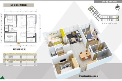 Đặc Biệt duy nhất 12 căn góc giá suất ngoại giao – 3 phòng ngủ, 85 m2 – Xuân Mai Complex