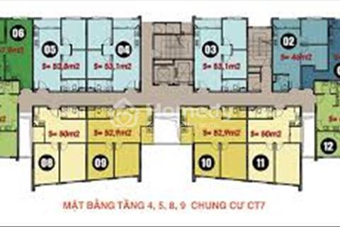 Bán căn hộ chung cư CT7B tại dự án khu đô thị Đặng Xá 1, Gia Lâm, Hà Nội, 67 m2 giá 1,2 tỷ