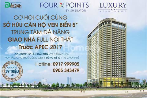 Căn hộ 5* Luxury Apartment Đà Nẵng- Bên bờ biển đẹp nhất Việt Nam bàn giao nhà trước APEC 2017