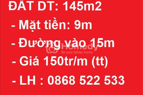 Chính chủ bán đất phân lô phố Dương Khuê. Diện tích 142 m2 mặt tiền 9 m giá bán 150 triệu/m2