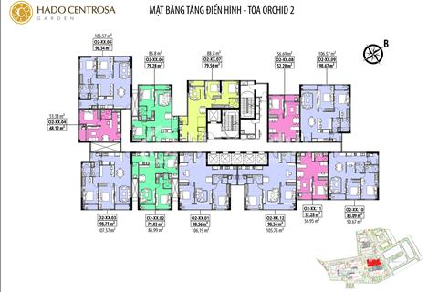 Bán gấp 2 phòng ngủ, 89 m2, giá 3,5 tỷ Hà Đô Centrosa view hồ bơi, thành phố rất đẹp