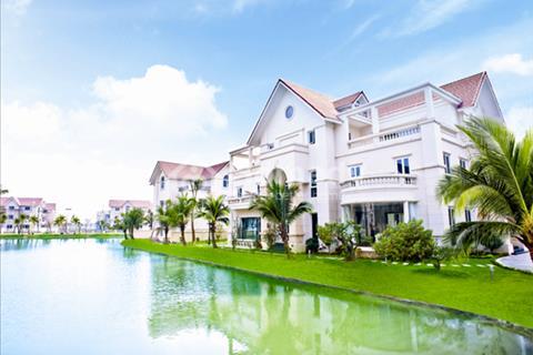 Cho thuê biệt thự tiểu khu Hoa Lan, Vinhomes Riverside Long Biên. View ngã ba sông cực đẹp