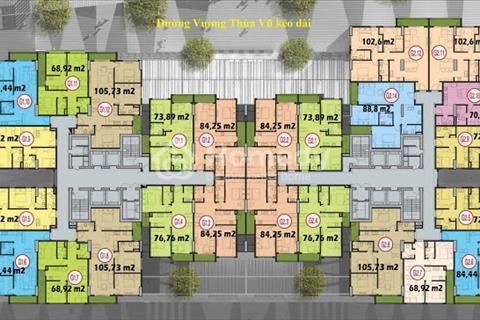 Bán căn 03 - 84,25 m2, 2 phòng ngủ chung cư Five Star - Số 2 Kim Giang, giá rẻ hơn chủ đầu tư