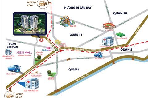 Bán căn hộ Summer Square ngay vòng xoay Phú Lâm, nhận nhà trong năm 2017