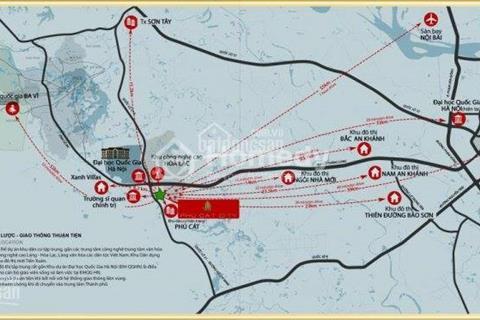 Bán đất nền biệt thự ven suối Phú Cát City chỉ từ 9 triệu/ m2 cạnh khu Cao Hòa Lạc