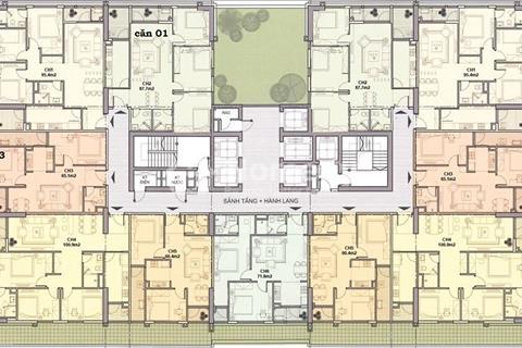 Gia đình bán căn góc 1204 tòa B chung cư Udic 122 Vĩnh Tuy view sông
