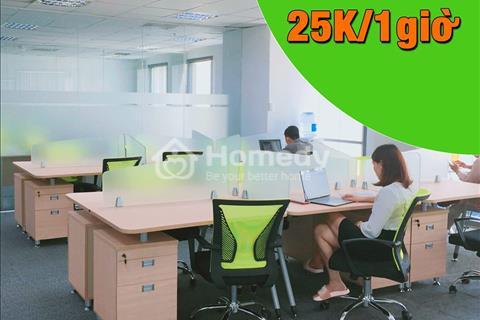 Cho thuê chỗ ngồi làm việc, giá rẻ chỉ với 25.000 đồng/1 giờ