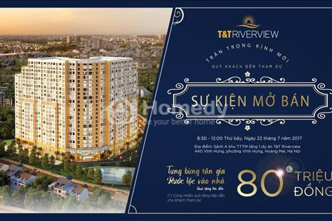 T&T Riverview Hoàng Mai - Chỉ với 1,8 tỷ sở hữu căn hộ 3 phòng ngủ trực diện sông Hồng