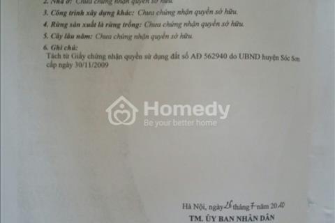 Bán đất thôn Cộng Hòa – xã Phù Linh – huyện Sóc Sơn – Hà Nội