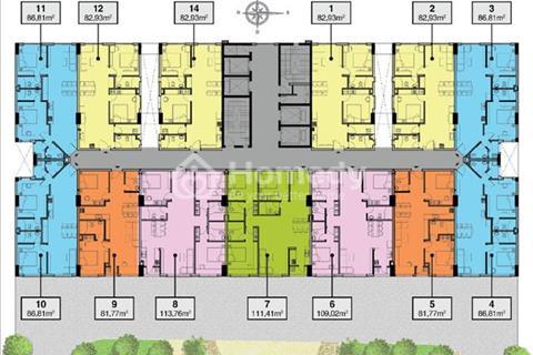 Căn hộ mặt tiền đường 9A giao nhà tháng 7/2017 diện tích 86 m2, 2 phòng ngủ, 2 WC. Giá 2,3 tỷ