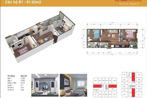 Chung cư giá từ 12tr/1m2, căn hộ 2PN chỉ từ 600tr, tặng 5 chỉ vàng SJC cho khách mua trong tháng 9