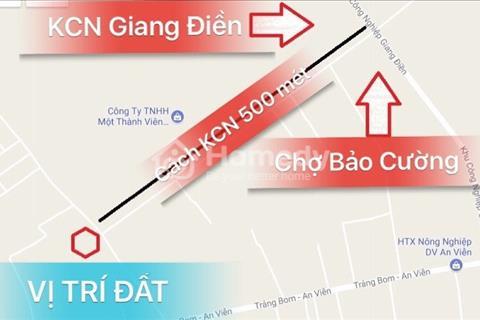 Đất nền gần khu công nghiệp Giang Điền, thuận tiện kinh doanh mua bán, giá 4,2 triệu/m2