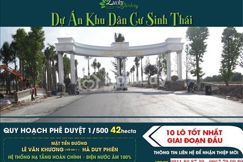 Lucky Garden đất nền giá rẻ nhất Hồ Chí Minh. Giá 5,5 triệu/m2