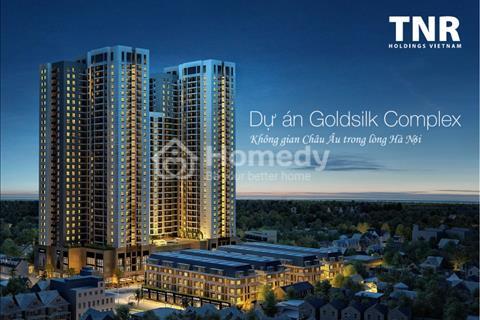 Cho thuê căn hộ dự án Goldsilk, 2 phòng ngủ, ban công hướng đông nam, full nội thất. Giá 7 triệu
