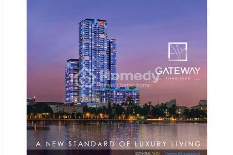 Định cư bán căn 91 m2 Gateway Thảo Điền tháp Aspen, tầng cao, view sông Sài Gòn. Giá 4 tỷ