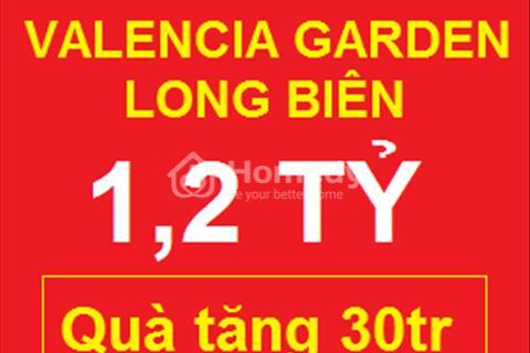 Quà tặng 30 triệu khi mua căn hộ Valencia Garden A703 giá 1,2 tỷ