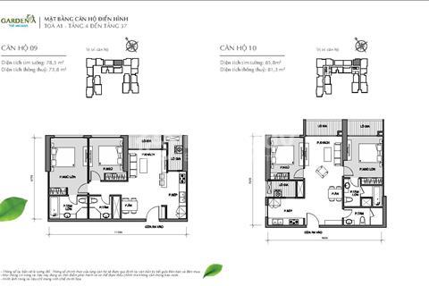 Vinhomes Gardenia, 2 phòng ngủ, diện tích 81 m2