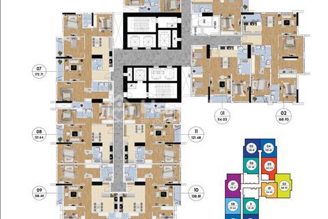 Bán cắt lỗ căn hộ 1801 (114,14 m2). R1 Goldmark City, giá 26 triệu/m2