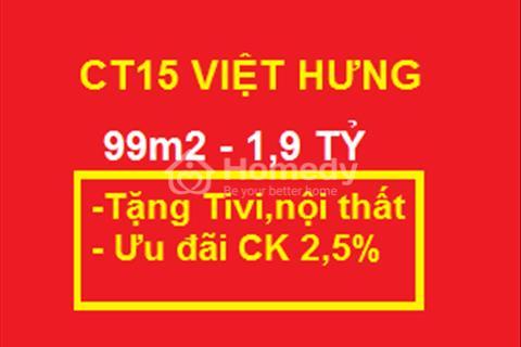 Cơ hội nhận Tivi - thiết bị nội thất khi mua CT15 Việt Hưng giá từ 1,9 tỷ căn 3 ngủ