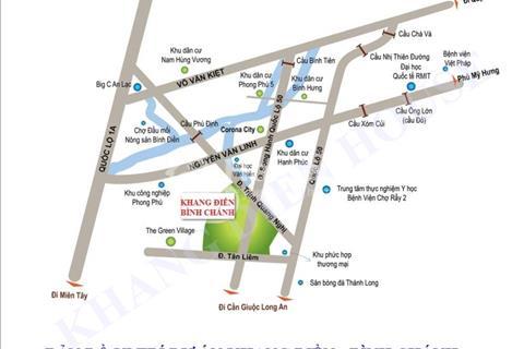 Nhà phố dự án Khang Điền Bình Chánh giá từ 2,2 tỷ - 2,4 tỷ