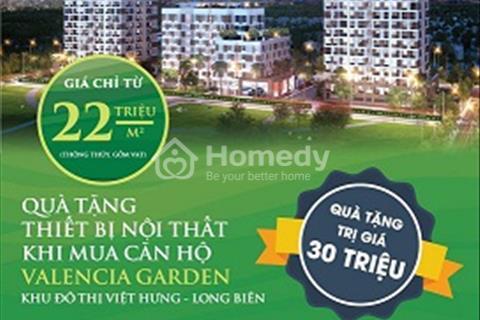 Cần bán căn 62 m2, tầng 7, Valencia Garden Long Biên, giá 1,3 tỷ, ưu đãi chiết khấu 3%