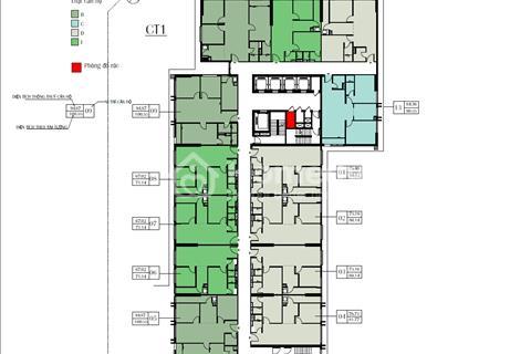 Bán cắt lỗ tòa CT1 Eco Green City. Tầng 1608 (67,02 m2), 25 triệu/m2