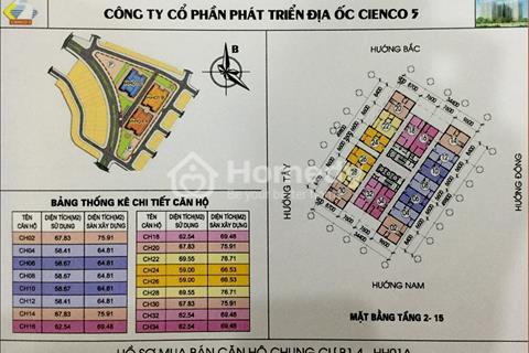 Chung cư Thanh Hà Cienco 5 Mường Thanh. Độc quyền phân phối giá 150 triệu 30% giá tri căn hộ