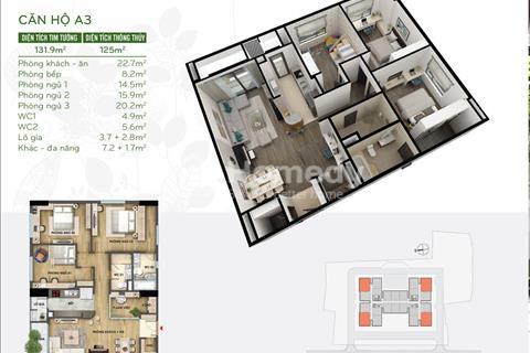 Tặng gói nội thất trị giá 300 triệu khi mua căn hộ 126 m2 tại Riverside Garden