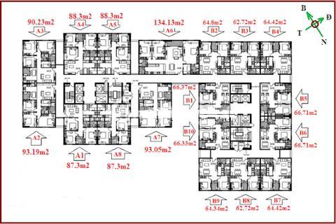 Tôi bán căn 1606 tòa B chung cư 122 Vĩnh Tuy 66 m ban công đông nam