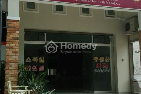 Cho thuê mặt bằng Hưng Gia - Hưng Phước trong Phú Mỹ Hưng. Giá 14 triệu/tháng, 40 m2 vị trí đẹp