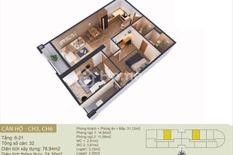 Bán căn A 1704 thiết kế 2 phòng ngủ chung cư Tây Hồ River View