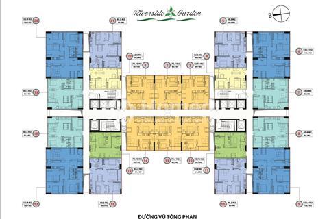 Chung cư Riverside Garden căn góc 132 m2, chiết khấu 600 triệu, lãi suất 0% / 24 tháng, chỉ 3,2 tỷ